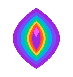 abstract vulva symbol rainbow colored lgbt symbol vector image
