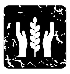 Agriculture insurance concept icon grunge style vector image