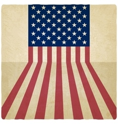 American flag old background vector image