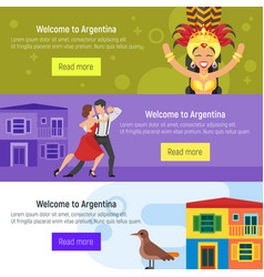 Argentina template for web banner or poster vector