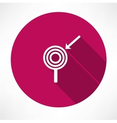 Arrow with the target icon vector