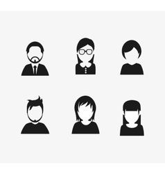 Assorted people portrait icons image vector