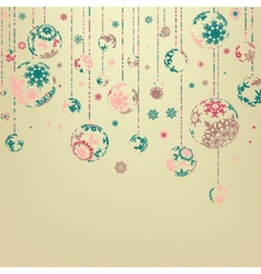 Background with Christmas balls EPS 8 vector image