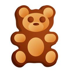bear cookie icon cartoon style vector image