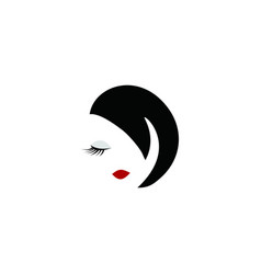 beauty face woman logo vector image
