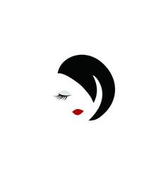 beauty face woman logo vector image