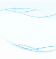 Blue futuristic speed smoke dynamic dotted lines vector