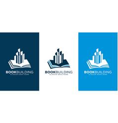 book building logo design vector image