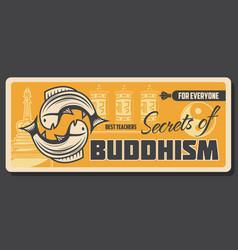 Buddhist religion sacred buddhism faith vector