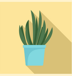 cacti pot icon flat style vector image