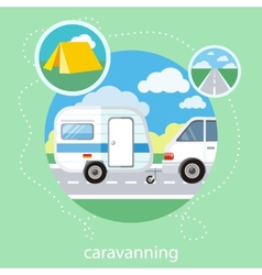 Caravaning tourism vector