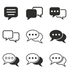 Chatting icon set vector