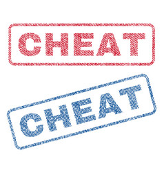Cheat textile stamps vector
