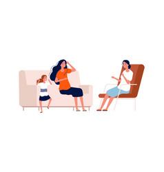 children psychologist angry bagirl bad vector image
