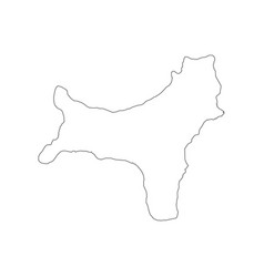 Christmas island map outline vector