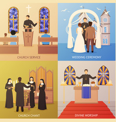 Church 2x2 design concept vector