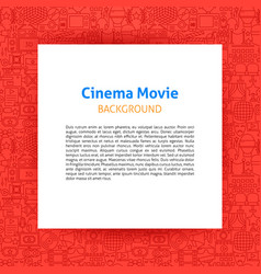 cinema movie paper template vector image