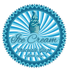 color template for ice cream advertising vector image