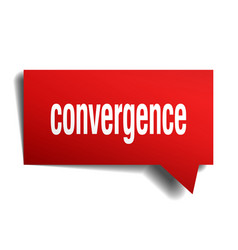Convergence red 3d speech bubble vector