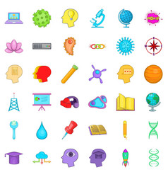 Creative business icons set cartoon style vector