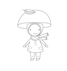 cute little gnome mushroom for children design vector image