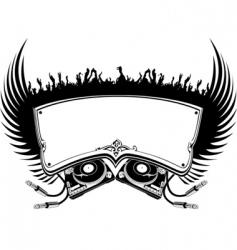 DJ banner vector