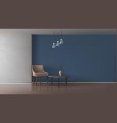 Elegant living room interior realistic mock vector