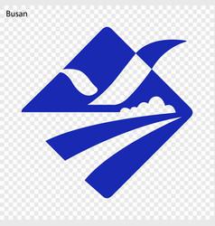 emblem of busan vector image