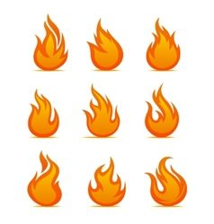 Fire warning symbols vector image