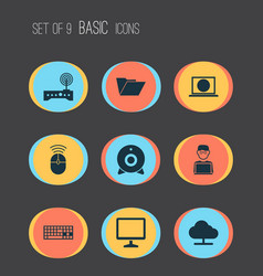 Gadget icons set collection of dossier web vector