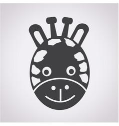 Giraffe face icon vector