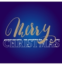 Gold hand drawn grunge lettering Christmas style vector