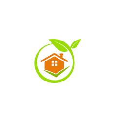 green house environment logo vector image