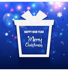 Happy New Year and Merry Christmas Gift greeting vector image