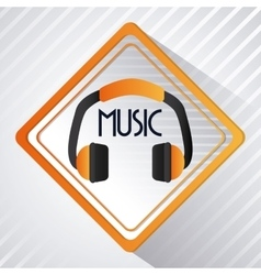 Headphone icon Dance and Music design vector
