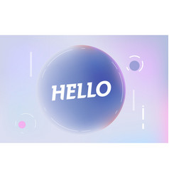 hello on in design banner template for web vector image