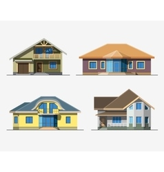Houses 4 color vector image