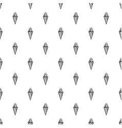 ice cream cone icon outline style vector image