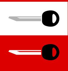 Key blank bar silhouette simple car vector