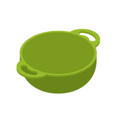 kitchen green empty bowls for food is isolated vector image