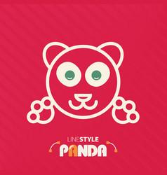 line style panda vector image