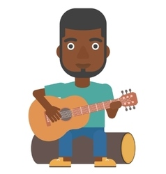 Man playing guitar vector image