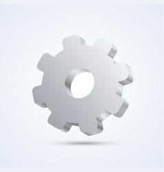 mechanical gear art sign mechanical vector image
