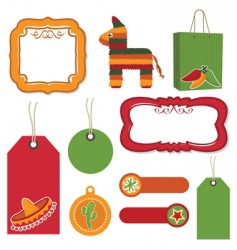 Mexican tags vector