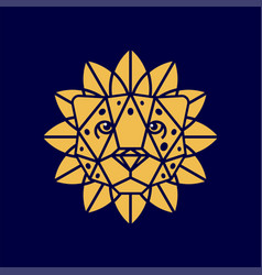 Modern professional logo leon so flower in orange vector