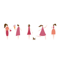 modern women vector image