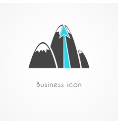 Mountain business icon vector image