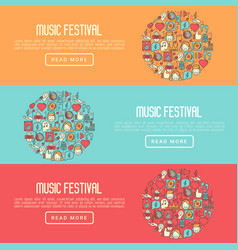 music festival concept in circle vector image