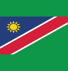 namibia flag for independence day and infographic vector image
