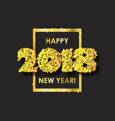 new year 2018 celebration background with confetti vector image